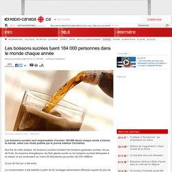 Les boissons sucrées tuent 184 000 personnes dans le monde chaque année