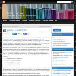 La boîte à outils 2015-1016 » L'élève chercheur