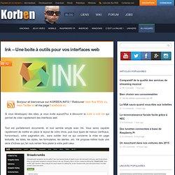 Ink – Une boite à outils pour vos interfaces web