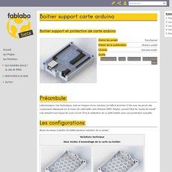 Boitier support carte arduino