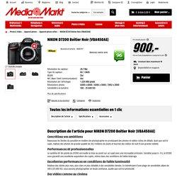 NIKON D7200 Boîtier Noir (VBA450AE) Appareil photo reflex