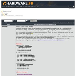 Boitiers et backplanes pour NAS homemade - Boitier - Hardware