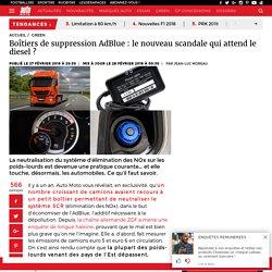 Boîtiers de suppression AdBlue : le nouveau scandale qui attend le diesel ? - Auto moto : magazine auto et moto