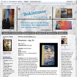 Bokintresse - Rebeccas Bokblogg: Recension - Jag, En