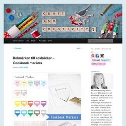 Bokmärken hasta kokböcker - Marcadores de Libro de cocina