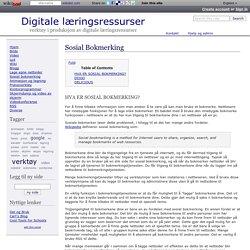 Sosial Bokmerking - Digitale læringsressurser