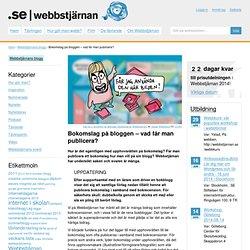 Bokomslag på bloggen – vad får man publicera?