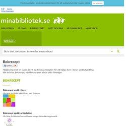 Bokrecept - Minabibliotek