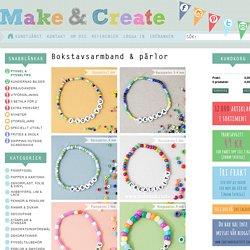 Bokstavsarmband & pärlor - Pyssel & pysseltips - Make & Create. ca.20st småpärlor till varje armband...