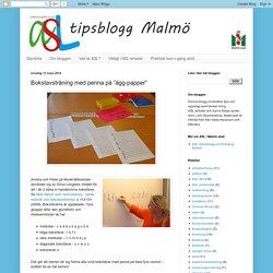 """ASL-tipsblogg Malmö: Bokstavsträning med penna på """"ägg-papper"""""""