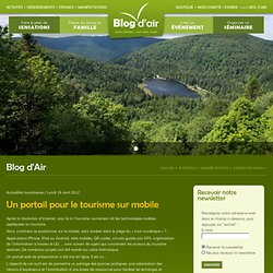 Un portail pour le tourisme sur mobile – 100% Vosges, 100% Bol d'Air !