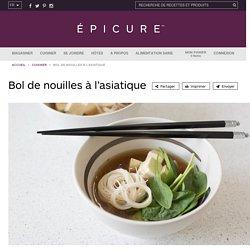 Bol de nouilles à l'asiatique