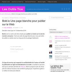 Bold.io Une page blanche pour publier sur le Web – Les Outils Tice