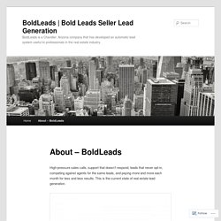 Bold Leads Seller Lead Generation