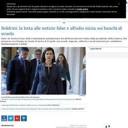 Boldrini: la lotta alle notizie false e all'odio inizia sui banchi di scuola