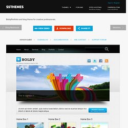 Boldy WordPress Theme - Download it for free from Site5