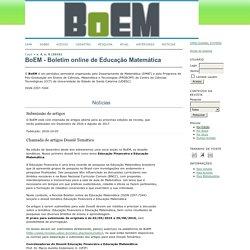 BoEM - Boletim online de Educação Matemática