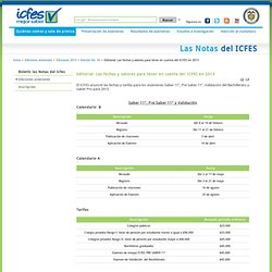 Boletín las Notas del ICFES - Editorial: Las fechas y valores para tener en cuenta del ICFES en 2013