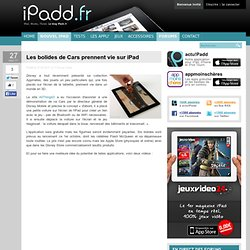 Les bolides de Cars prennent vie sur iPad
