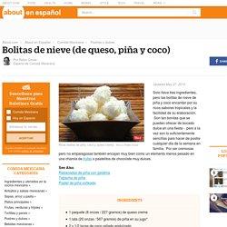 Bolitas de nieve (de queso crema, piña y coco)