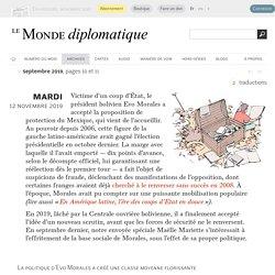 La gauche bolivienne a-t-elle enfanté ses fossoyeurs ?, par Maëlle Mariette (Le Monde diplomatique, septembre 2019)