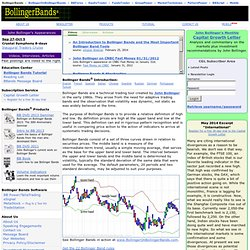 Official site of John Bollinger's Bollinger Bands and Capital Growth Letter