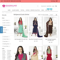 Bollywood Dresses – Buy Designer Indian Replica Bollywood Salwar Suits Online At Shopkund UK