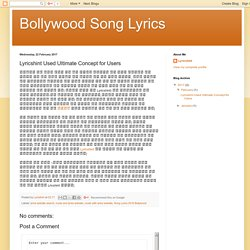 Bollywood Song Lyrics: Lyricshint Used Ultimate Concept for Users