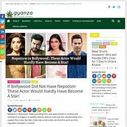 Nepotism actors in bollywood