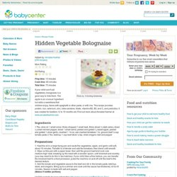 Hidden Vegetable Bolognaise