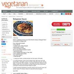 Bolognese Sauce Recipe