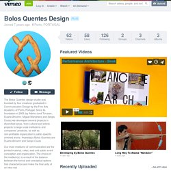 Bolos Quentes Design on Vimeo