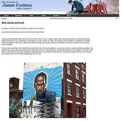 The Art of James Cochran AKA JimmyC : Bolt street portrait