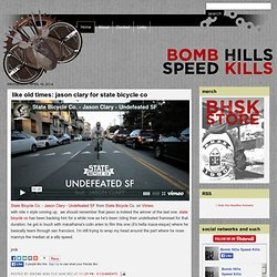 bomb hills, speed kills: a cogblog.