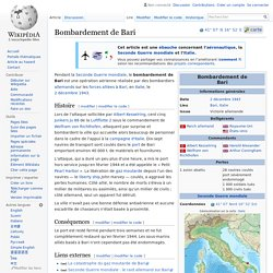 Bombardement de Bari