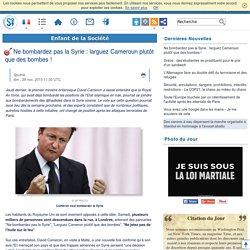 Ne bombardez pas la Syrie : larguez Cameroun plutôt que des bombes !