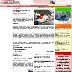 Bombardier Transport affiche de bons résultats