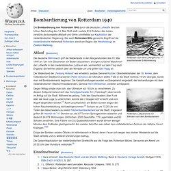 Bombardierung von Rotterdam 1940