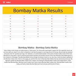 Bombay Matka Results