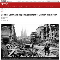 Bomber Command maps reveal extent of German destruction