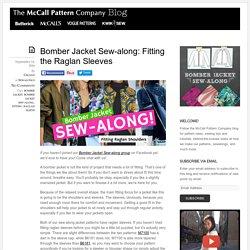 Bomber Jacket Sew-along: Fitting the Raglan Sleeves