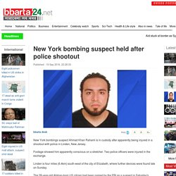 New York bombing suspect held after police shootout