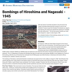 Bombings of Hiroshima and Nagasaki - 1945