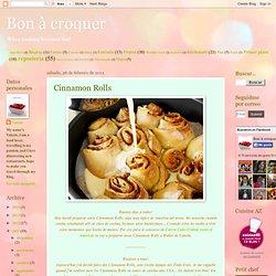 Bon à croquer: Cinnamon Rolls