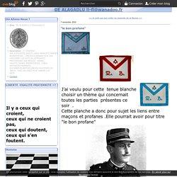 """le bon profane"" - DE ALAGADLU ll-fl@wanadoo.fr"