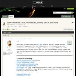 BSDF Bonanza: GGX, Microfacets, Disney BRDF and More - Shaders