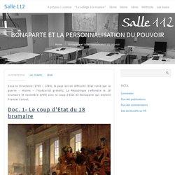 Bonaparte Et La Personnalisation Du Pouvoir
