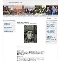 BUONAPARTE dans le Paris de la Révolution