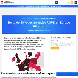 Bond de 39% des amendes RGPD en Europe sur 2020
