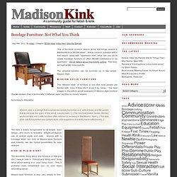 Bondage Furniture: Not What You Think